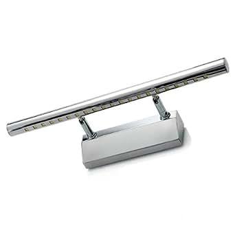 5W 21 LED SMD5050 Edelstahl Spiegelleuchte Badlampe Wandleuchte Warmweiß Hell