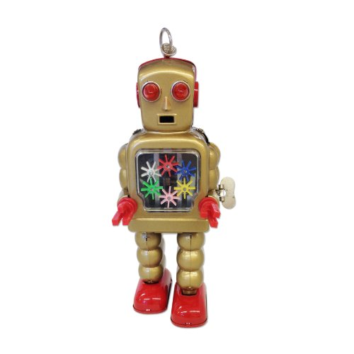 vintage-style-gold-windup-tin-high-wheel-robot