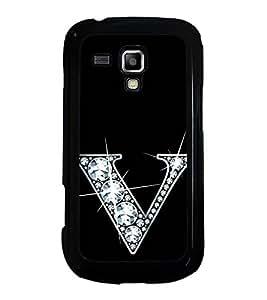 Printvisa Ultra Alphabet V 2D Hard Polycarbonate Designer Back Case Cover for Samsung Galaxy ...