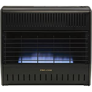 Procom Dual Fuel Vent Free Blue Flame Garage Heater 30