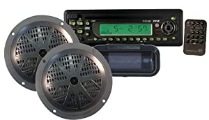 PYLE Waterproof Marine CD/MP3 Player Receiver with Speakers and Splash Proof Radio Cover from Pyle