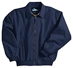 Achiever Microfiber Jacket with Poplin Lining, Color: Navy, Size: XX-Large Tall