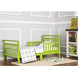 Dream On Me Sleigh Toddler Bed, Lime Green