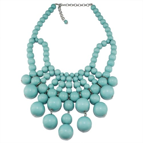 Bubble Bib Statement Necklace Chain Fashion Jewelry Gift Turquoise