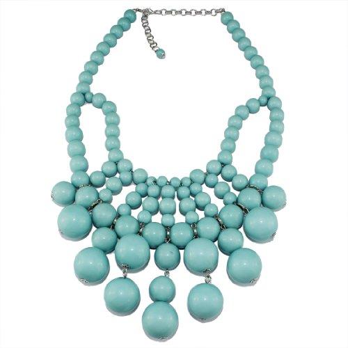 Bubble Bib Statement Necklace Chain Fashion Jewelry Gift Turquoise