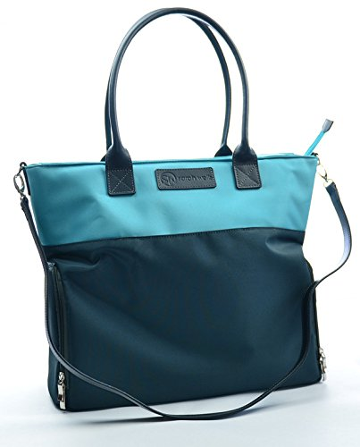 "Buy Cheap Sarah Wells ""Abby"" Breast Pump Bag, Real Leather Straps (Teal/Charcoal)"