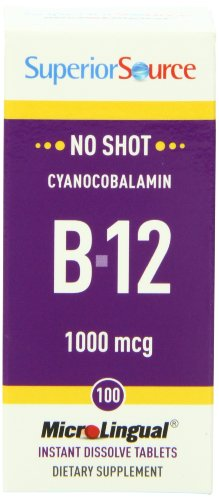 Superior Source No Shot B12, 1000 Mcg, 100 Count