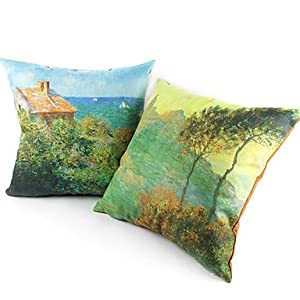 Set Of 2 Waterlily Pond Suede Decorative Pillow Cover Throw Pillow Covers