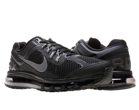 Mens Nike Air Max 2013 Running Shoes Black Dark Grey 554886