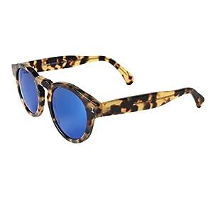 Illesteva Leonard Tortoise with Blue Mirrored Lenses Color 62
