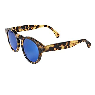 Illesteva Leonard Tortoise with Blue Mirrored Lenses Color 62