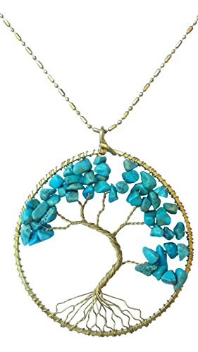 DEW Drops Reconstructed Turquoise Stone Tree of li…
