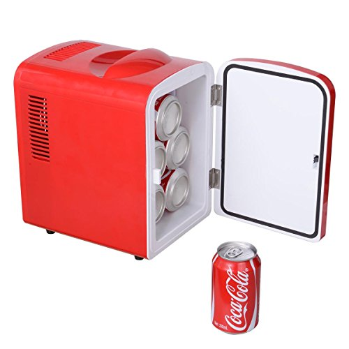 Portable Mini Fridge Cooler and Warmer Auto Car Boat Home Office AC & DC Red (Fridge Without Freezer compare prices)