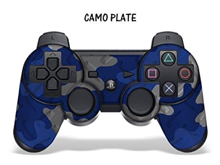 Protective Skin for Playstation 3 Remote Controller - Camoplate Blue