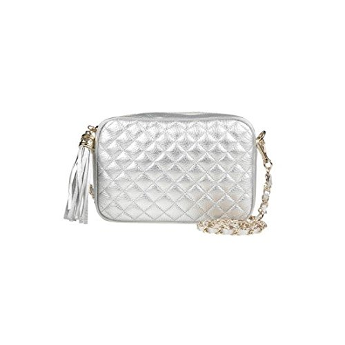 dearwyw-women-genuine-cow-leather-mini-waffle-quilted-square-cross-body-shoulder-bag-silver