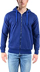 vibgyor Men's Cotton Sweatshirt (VSWAQNBCHN_42, Blue, 42)