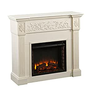 Sei Calvert Electric Fireplace Ivory Kitchen Dining