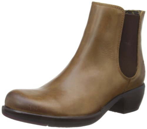 Fly London Make - Stivali Chelsea Donna, Marrone (Camel 000), 42 EU