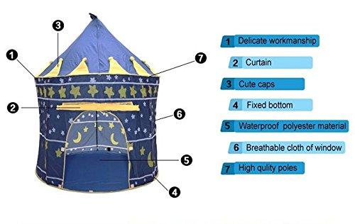 Xidaje Folding Kid Play Tents Castle front-305033