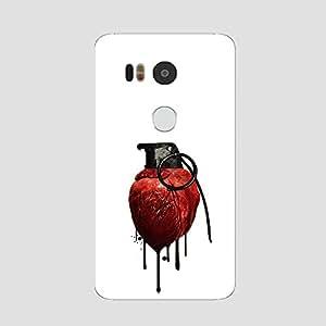 Back cover for Nexus 5X Heart Grenade