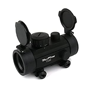 TacFire® Tactical 1x30 Red/green Illuminated Crossbow Reticle Dot Sight 4 MOA , 5 Brightness Levels Each Color, Picatinny/weaver Mount, LED Safe for Eyes , Unlimited Eye Relief , Comes with Flip Up Lens Covers
