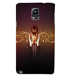 SAMSUNG GALAXY NOTE 3 MUSIC GIRL Back Cover by PRINTSWAG