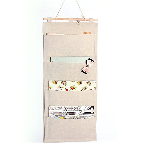 co linklinencotton fabric wall door cloth hanging storage pockets books organizational back to nice wall hanging office organizer 4
