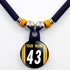 Pittsburgh Steelers Jersey Necklace Personalized with Your Name and Number