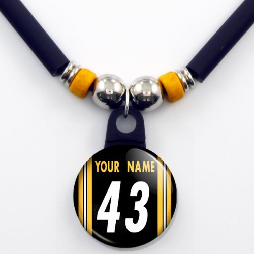 promo code 9a785 6ce3c Pittsburgh Steelers Jersey Necklace Personalized with Your ...