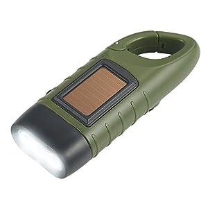 Lampe Torche,Simpeak Torche LED Solaire & Manivelle Flashlight Rechargeables pour Les Activité en Plein Air Lampe d'Urgence