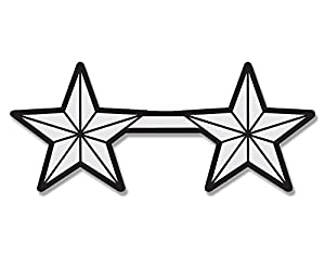 amazoncom 2 star major general insignia sticker stars