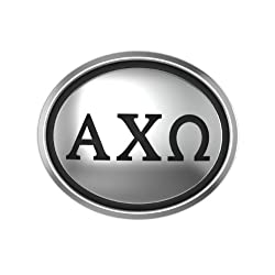 Alpha Chi Omega Oval Sorority Bead Fits Most Pandora Style Bracelets Including Pandora Chamilia Biagi Zable Troll and More. Officially Licensed High Quality Exclusive Bead in Stock for Immediate Shipping