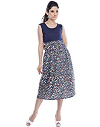 Binny Creation Women's Art Crepe Digital Print Western Dress (Tunic) (BWD-11035)