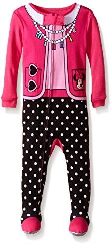 Disney Baby-Girls Infant Minnie One Piece Blanket Sleeper, Pink, 24 Months