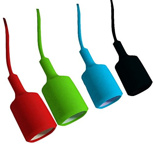 Colorful lampada a soffitto pendente dello schermo montaggio fai da te Lampadario Decor E27 base     -> Montaggio Lampadario Fai Da Te