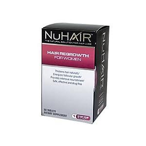 Nu Hair NuHair Regrowth Women Tabs, 60 ct