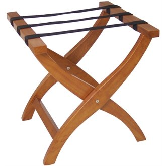 Winware Bolero Suitcase Stand (Elegant crossed curved legs and robust webbing support. Folds away when not in use for easy storage)