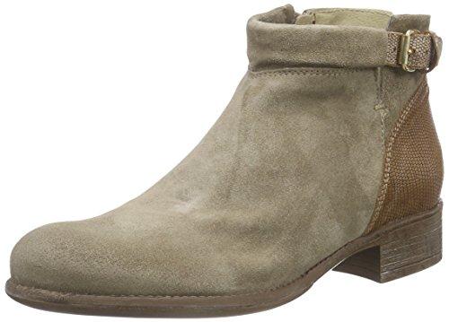 MANASCAROLINA - Stivali Desert a gamba corta, imbottitura leggera Donna, Beige (Khaki/Marrone), 38