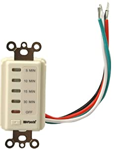 Woods 59726 Automatic Wall Switch Timer, 30-Minute, Ivory