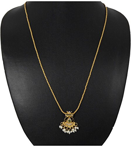 Peach & Glory Gold Plated Chain With Pendant For Women (443)