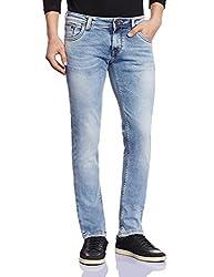 Lawman Men's Skinny Jeans (8907395035773_PG3 KMN-1635AST SKFT MNTBL_34W x 34L_Blue)
