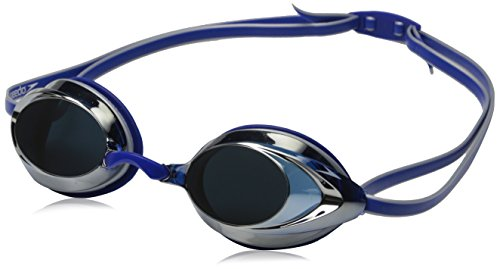 Official #1 Rated Swim Goggle on Amazon - Speedo Vanquisher 2.0 Mirrored Swim Goggle, Silver/Blue
