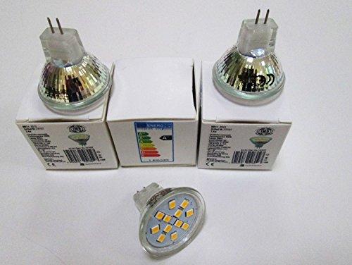LED MR11 - 2.4w-200Lm-bianco caldo 3,000 K/10V - 30V DC/ideale per camper-Boot-rimesse/3 danitech!
