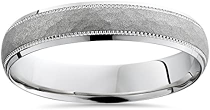 Buy Direct amp Save Hammered Solid 950 Platinum Wedding Ring Band Dome