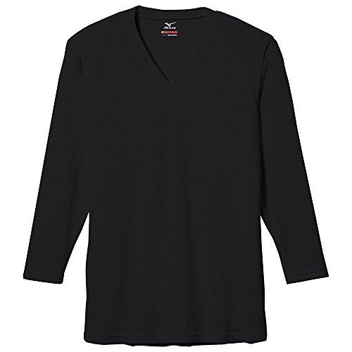 (ミズノ)MIZUNO ブレスサーモ エブリ Vネック 長袖シャツ [メンズ] C2JA5601 09 ブラック M