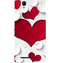 Casotec Multiple Hearts Design Hard Back Case Cover for Sony Xperia T2 Ultra