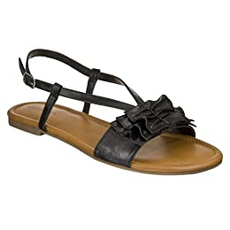 Product Image Women's Xhilaration® Tabby Bow Flat Sandals - Black