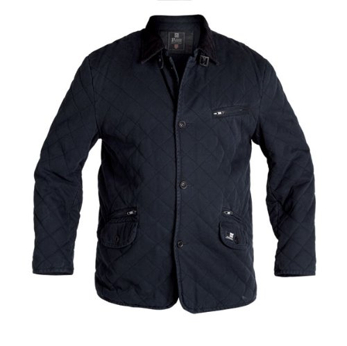 D555 Large Mens Quilted Jacket with Elbow Patch (1XL-6XL)