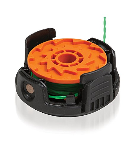 WORX WA0204 1-Piece Spool Line Replacement and Cap Combo with 0.08-Inch by 20-Feet Pre-Wound Twisted Line for Model WG190