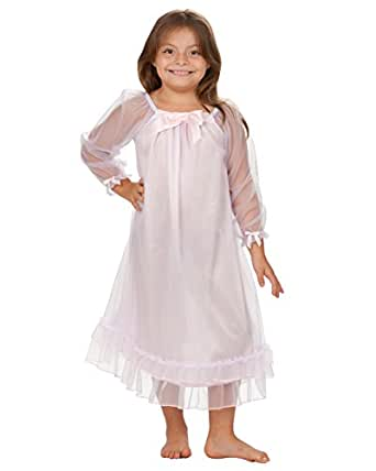 Amazon.com: Laura Dare Little Girls' Frilly Pink Lilac Nightgown